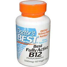 Best Fully Active B12, 1500 mcg, 60 Veggie Caps - Doctor's Best