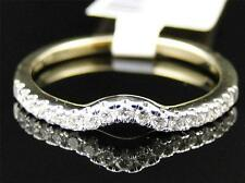 Ladies Womens 14K Yellow Gold Diamond Engagement Wedding Enhancer Band Ring