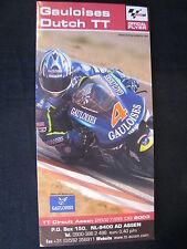 Flyer Gauloises Dutch TT ( Assen ) 28 June 2003 (TTC)