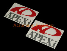 "2x 4"" 10.2cm APEXi Apex Decal Sticker JDM turbo sponsor door roll call vinyl car"