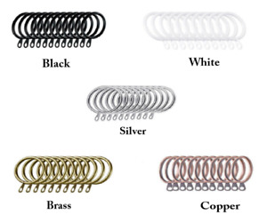 12 Pack Metal Curtain Rings Heavy Duty For Rods Poles Voile Hooks 30mm Diameter