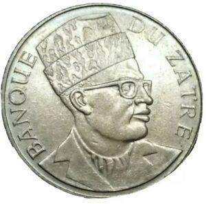 1976 ZAIRE CONGO DEMOCRATIC REPUBLIC 20 MAKUTA HAND LIGHTED TORCH LARGE COIN