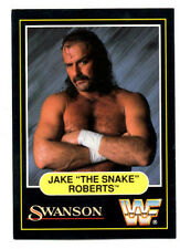 "1991 Swanson WWF Wrestling card: Jake ""The Snake"" Roberts"