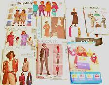Lot 9 Sewing Patterns VINTAGE McCalls Butterick Vogue Simplicity Women Kids