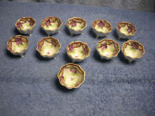 11 Vintage Hand Painted Open Footed Salts