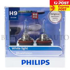 PHILIPS H9 BLUE VISION 4000K WHITE HALOGEN BULBS 12V 65W FOR VE VF HIGH BEAM