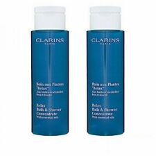 2 X Clarins Relax Bath & Shower Concentrate 200ml Bath Body Cleanser NEW#1653_2