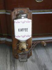 Alte Leinbrock Werke Wandkaffeemühle Ideal mit Rosendekor Roesler aus Keramik