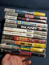 Lot of 11 UMD Movies Sony PSP Stealth Tomb Raider Dawn of the Dead The Punisher