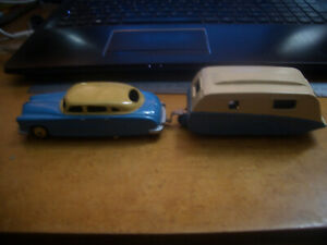 DINKY HUDSON SEDAN WITH 190 CARAVAN FROM  A LARGE ORIGINAL COLLECTION PURCHASE