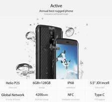 Vernee Active 6GB+128GB Waterproof 5.5''Android Octa Core 4200mAh 4G Smartphone