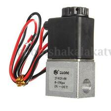 "12V DC Normally Closed 1/8"" Inch Pneumatic 2 Way Electric Gas Air Solenoid Valve"