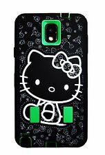 Hello Kitty 2layer Built in Screen Protector Case For Samsung Galaxy Note3 Green