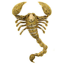 Butler and Wilson LARGE Gold Crystal Scorpion Brooch Gold Tone New ONLY ONE