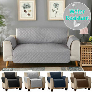 Quilted Sofa Slip Cover Couch Pet Furniture Protector Throws Sofa 1/2/3 Seater