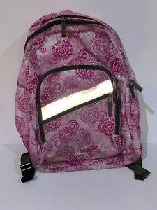LL Bean Deluxe Backpack Bookbag Beautiful Design Pink