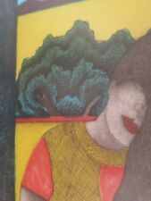 Fernando Olivera Oaxaca  Nostalgia  26 x 36 w Frame   21x14  art  Juchitan women