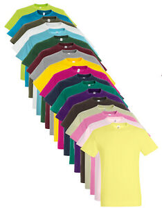 Mens 100% Cotton Plain Blank Tee Shirt T-Shirt T Shirt 40 Colours