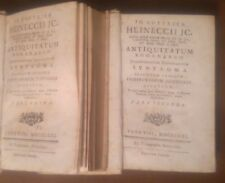 ANTIQUITATUM ROMANARUM JURISPRUDENTIAM 1771 Gottlieb Heineccii 2 voll. COMPLETO*