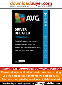 AVG Driver Updater 2021 - 1 PC - 1 Year [Download]