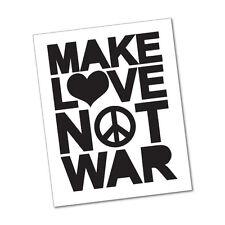 MAKE LOVE NOT WAR Sticker Decal Funny Car Prank Laptop #5152