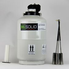 10 L Liquid Nitrogen Dewar Container Cryogenic Tank LN2 with Straps U.S.Solid