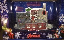 New Marvel Avengers Illuminated Christmas Street Scene Figurines Marvel Comic