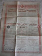 Vintage share certificate Stock Bonds Royaume de serbia obligation 1902