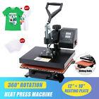12x10 T Shirt Press Professional Swing-Away Heat Press Machine 900W 360 Swivel