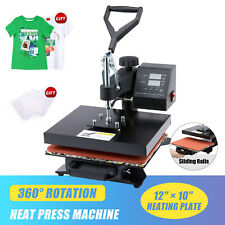 Professional 900w T Shirt Press W 12x10 Inch Heat Pad Transfer Sheets 360 Swivel