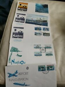 TONGA NIUAFOOU FIRST DAY COVERS COLLECTION