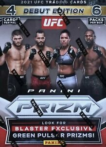 (2) 2021 Panini Prizm UFC Debut Edition Factory Sealed Blaster Boxes