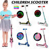 Kids Scooter Deluxe for Age 3~12 Adjustable Kick Scooters Girls Boys 2LED Wheel