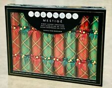 8 Pack Mestige Luxury Christmas Crackers With Swarovski Crystals Red / Green