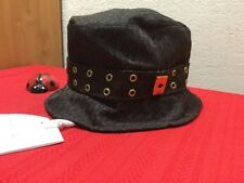 Auth Vtg Rare  Christian Dior Trotter Hat Brown #58 Cotton France  CPX04900 NWT