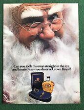 vintage 1980s magazine Ad SANTA CLAUS Royal Crown Liquor Bar Nice CHRISTMAS pic