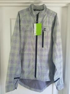 RARE New Cannondale Cycling Urban Softshell Jacket Men's Large Plaid Green NWT