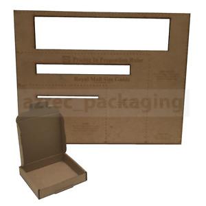 100 BROWN C7 MINI POSTAL BOX 101x101x22mm ROYALMAIL LARGELETTER CARDBOARD PIP CS
