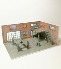 Two floor Brick Diorama Garage Kit, with 2 walls and equipment, Scale 1:43 NEW