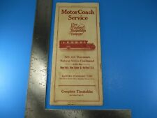 Vintage May 13th 1928 Motor Coach Service New England Transportation Co. S4712