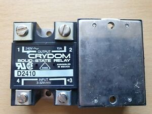 Crydom D2410 240V 10A Solid-State Relay Input 3-32VDC