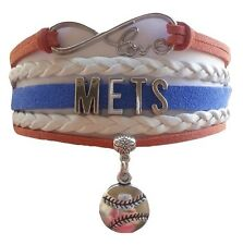 New York Mets Baseball Infinity Bracelet Jewelry Apparel