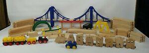 50+ Piece Thomas & Brio Compatible Wooden Train & Track Mixed Lot