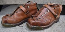 RARE VINTAGE 1940'S 1950'S MENS SWISS MADE LEATHER SKI BOOT 43EU, 8UK, 9.5-10US