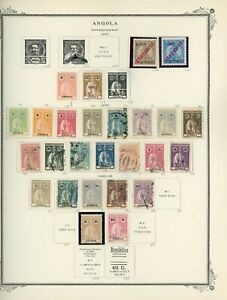 PORTUGUESE COLONIES - ANGOLA Scott Specialty Album Page Lot #8 - SEE SCAN - $$$