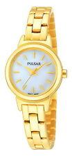 Pulsar Quartz (Battery) Gold Plated Strap Adult Wristwatches