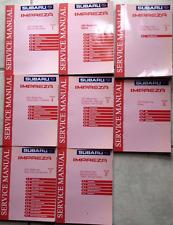 2001 Subaru Impreza Service Repair Shop Workshop Manual Set Factory OEM