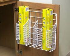 Kitchen Wrap Organizer Storage Foil Shelf Holder Rack Wall Door Cabinet Mount