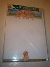 OTTER HOUSE WRITING PAPER YELLOW LABRADOR  FAMILY   20 SHEETS & ENVELOPES
