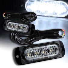 Universal 8 LED White Car Truck Emergency Beacon Warn Hazard Flash Strobe Light